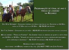 Programação de final de ano e férias de janeiro 2012 na Rosário