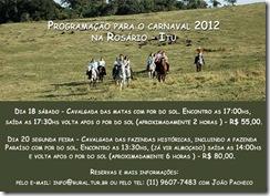 Programação para o Carnaval 2012 na Rosário_Itu SP
