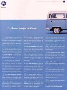 Os últimos desejos da Kombi_anúncio na Superinteressante dez2013 ed 327 Editora Abril